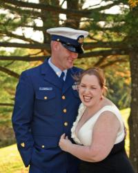 Military man with his wife