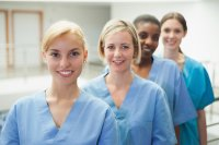 Four female nurses