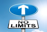 No limits street sign