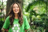 Young environmentally conscious student