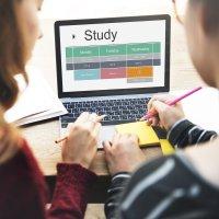 Study calendar on laptop screen