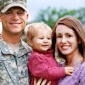 Military man with his wife & child