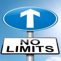 No limits street sign