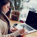 Female professional at laptop
