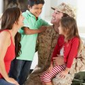 Photograph of a military family